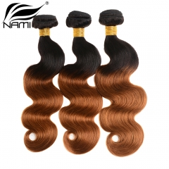 NAMI HAIR Ombre Color T1B/30 Brazilian Body Wave Human Hair Extensions 3 Bundles