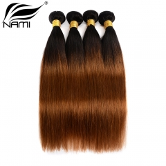 NAMI HAIR Ombre Color T1B/30 Brazilian Straight Human Hair Extensions 4 Bundles