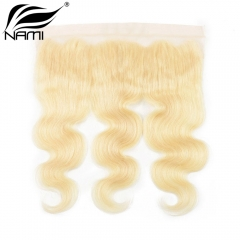 NAMI HAIR 613 Blonde Color 13x4 Lace Frontal Closure Brazilian Body Wave Virgin Human Hair