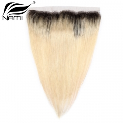 NAMI HAIR T1B/613 Ombre Color 13x4 Lace Frontal Closure Brazilian Straight Virgin Human Hair