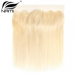 NAMI HAIR 613 Blonde Color 13x4 Lace Frontal Closure Brazilian Straight Virgin Human Hair