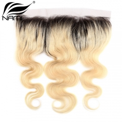 NAMI HAIR T1B/613 Ombre Color 13x4 Lace Frontal Closure Brazilian Body Wave Virgin Human Hair