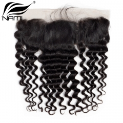 NAMI HAIR 13x4 Lace Frontal Closure Brazilian Loose Deep Wave Virgin Human Hair Natural Color