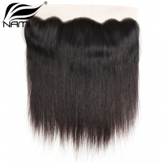 NAMI HAIR 13x4 Lace Frontal Closure Brazilian Straight Virgin Human Hair Natural Color