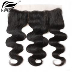 NAMI HAIR 13x4 Lace Frontal Closure Brazilian Body Wave Virgin Human Hair Natural Color