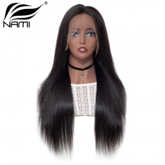 NAMI HAIR Lace Frontal Wig 150% Density Brazilian Straight Virgin Human Hair