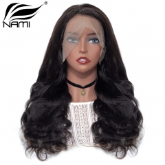 NAMI HAIR Lace Frontal Wig 150% Density Brazilian Body Wave Virgin Human Hair