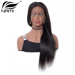 NAMI HAIR Full Lace Wig 150% Density Brazilian Straight Virgin Human Hair